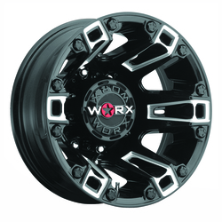Worx Wheels 803BM Beast Dually Rear - Gloss Black w/Milled Clear Coat Rim