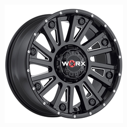 Worx Wheels 810BM Sentry - Gloss Blk w/ Milled Accents & Dimples Rim