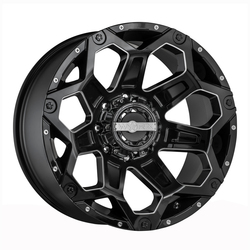 Worx Wheels 812BM Clash - Gloss Black w/ CNC Milled Accents