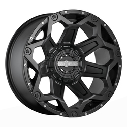 Worx Wheels 812SB Clash - Satin Blk w/Milled Dimples & Clear Coat