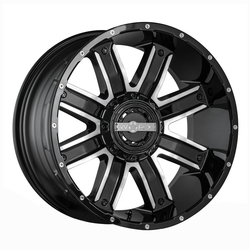 Worx Wheels 813U Destroyer - Gloss Black w/Cut Accents
