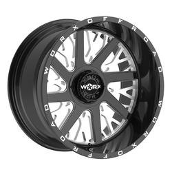 Worx Wheels 816BM Overtime - Black Milled Rim - 22x12