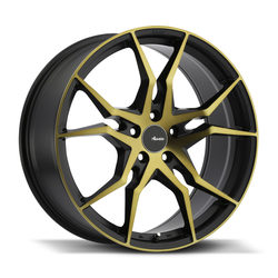 Advanti Wheels Hydra - Black Face Cut Bronze Rim