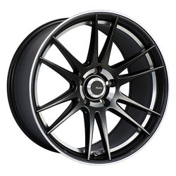 Advanti Wheels Optimo - Matte Black Machine Lip, Undercut Rim
