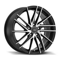 Advanti Wheels Turbina - Matte Black Machine Face Rim