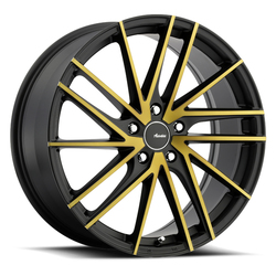 Advanti Wheels Turbina - Black Face Cut Bronze Rim