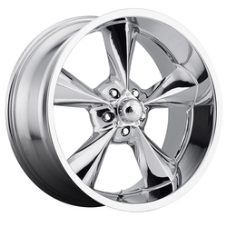 B/G Rod Works Wheels Old School - Chrome Rim - 17x7