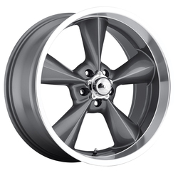 B/G Rod Works Wheels Old School - Gunmetal Machined Lip Rim - 17x7