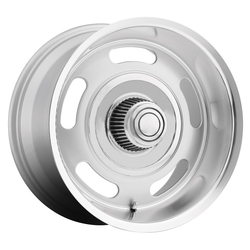 B/G Rod Works Wheels B/G Rod Works Wheels Rally - Silver with Machined Lip - 15x7