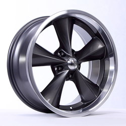 Boyd Coddington Wheels Junkyard Dog - Gunmetal / Machined Lip Rim - 18x7