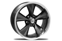 Boyd Coddington Wheels Junkyard Dog - Gunmetal / Machined Lip Rim - 18x7
