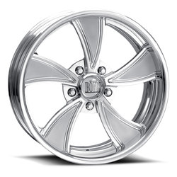 Boyd Coddington Wheels Twisted Two Tone - Polished with Satin Spokes - 15x15