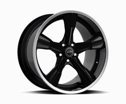 Carroll Shelby Wheels CS 11 - Black w/Polished Lip Rim