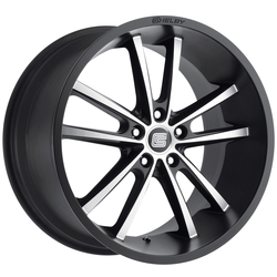 Carroll Shelby Wheels CS 2 - Black w/Machined Face Rim - 20x9