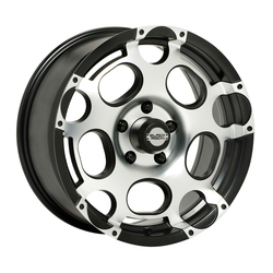 Black Rock Wheels Scorpion - Machined finish with Black Accents Rim - 18x8.5