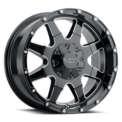 Black Rock Wheels Black Rock 904B - Gloss Black/Milled Edges Rim