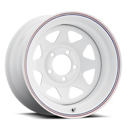 Cragar Wheels 310 Nomad - White w/Red and Blue Stripes Rim - 15x7