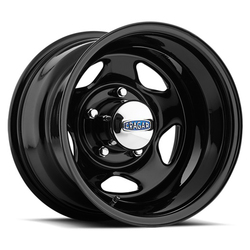 Cragar Wheels 365 V-5 - Gloss Black Powdercoated Rim - 15x7