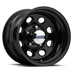 Cragar Wheels 397 Soft 8 - Gloss Black Powdercoated Rim - 15x7