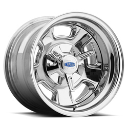 Cragar Wheels 390C Street Pro - Chrome w/ Aluminum Center Rim - 15x7