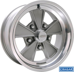 Cragar Wheels Eliminator 500G - Gray Spokes, Machined Lip Rim - 15x7