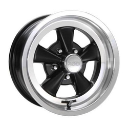 Cragar Wheels 610B S/S - Black with Machined Lip Rim - 15x7