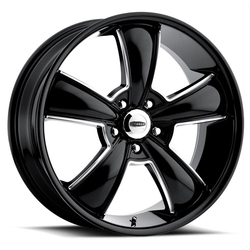 Cragar Wheels 615BMBC Modern Muscle - Black w/Machined Accents Rim