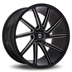 Curva Wheels C22 - Black with Milled Windows