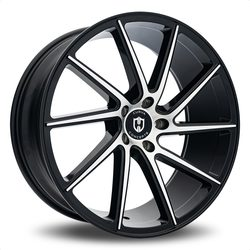 Curva Wheels C22 - Black with Machined Face