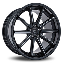 Curva Wheels C24 - Black with Milled Windows