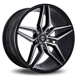 Curva Wheels C25 - Black with Machined Face