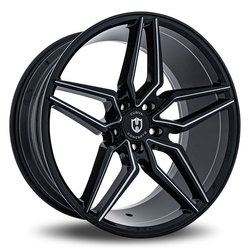 Curva Wheels C25 - Black with Milled Windows