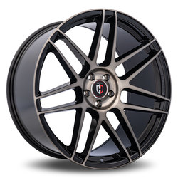 Curva Wheels C300 - Black with Machined Tinted Face Rim - 22x10.5