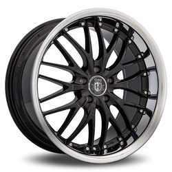 Curva Wheels C3 - Black with Stainless Steel Chrome Lip