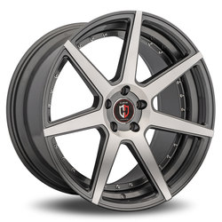 Curva Wheels C47 - Gunmetal with Machined Face