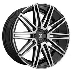 Curva Wheels C48D - Black with Machined Face Rim