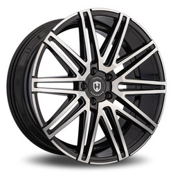 Curva Wheels C48 - Black with Machined Face Rim - 22x10.5