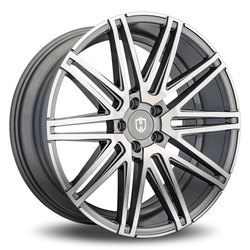 Curva Wheels C48 - Gunmetal with Machined Face Rim - 22x10.5
