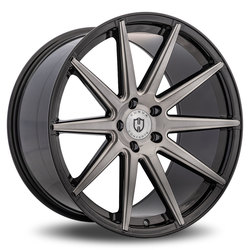 Curva Wheels C49 - Tinted Black Brushed Face Milled