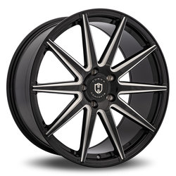 Curva Wheels C49 - Black with Milled Windows
