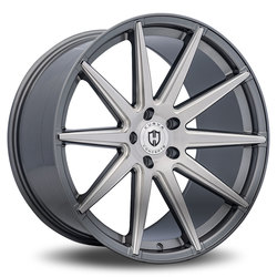 Curva Wheels C49 - Gunmetal Brushed Face Milled