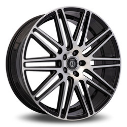 Curva Wheels C50 - Black with Machined Face Rim - 22x10.5