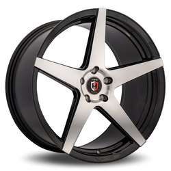 Curva Wheels C55 - Black with Machined Face