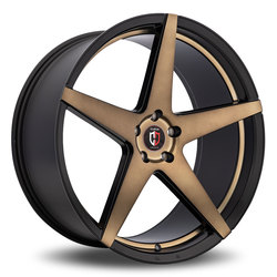 Curva Wheels C55 - Black with Machined Face/Bronze