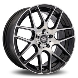 Curva Wheels C7 - Black with Machined Face