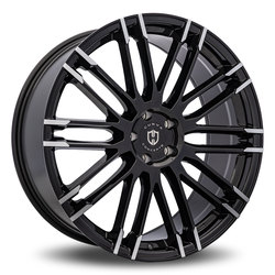Curva Wheels C87 - Black with Machinded Spoke Rim - 22x10.5