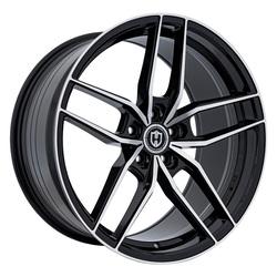 Curva Wheels CFF25 - Gloss Black Machine Face Rim