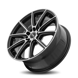 Diablo Racing Wheels DRW D16 - Gloss Black Machine Face Rim