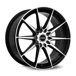 Diablo Racing Wheels DRW D19 - Gloss Black Machine Face Rim