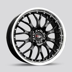 Drag Wheels DB19 - Gloss Black with Machined LIp Rim